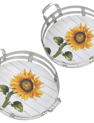 Circular Sunflower Tray (2 Sizes)