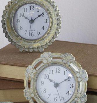 Whitewashed Mini Gold Clock (2 Styles)