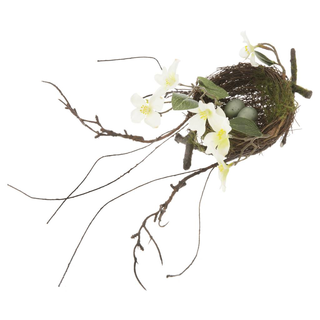 Dogwood Twig Nest w/ Eggs