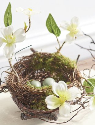 Dogwood Twig Nest w/ Eggs