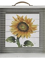 Framed Metal Sunflower Print