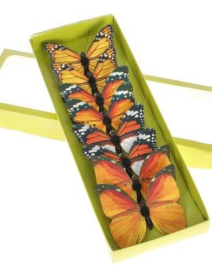 Set of 8 Clip on Butterflies