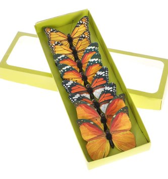 Set of 8 Clip on Butterflies