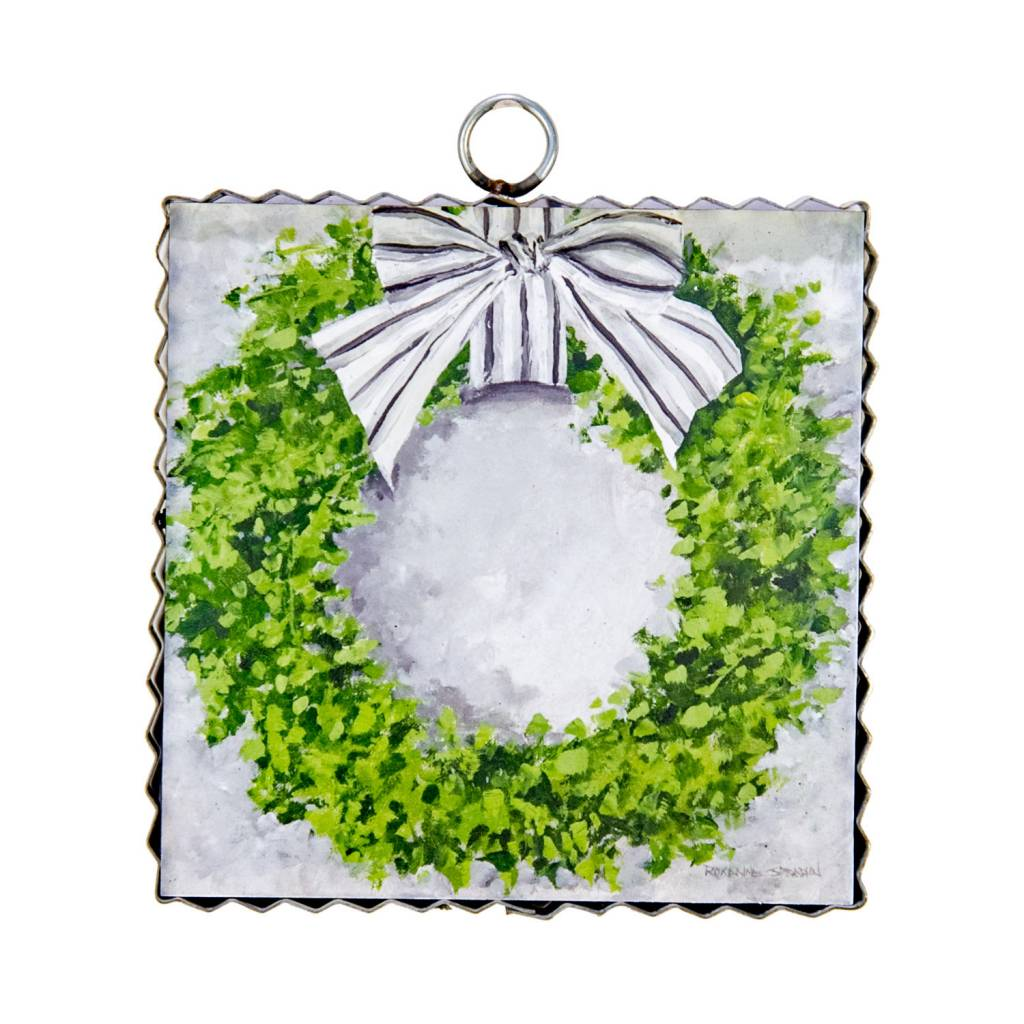 Boxwood Wreath Small Painted Print