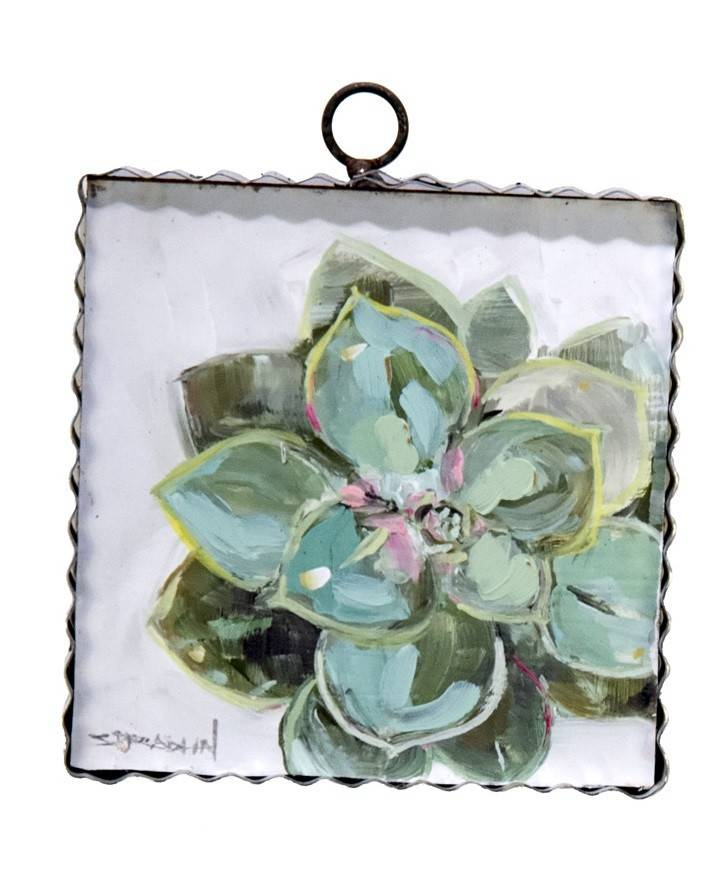 Echeveria Small Painted Print