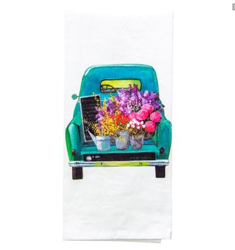 Truck of Flowers Towel