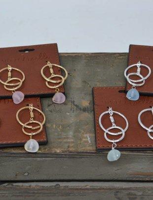 Seaglass Circle Earrings (4 Colors)