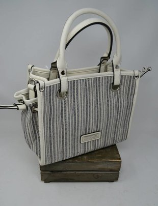 Catamaran Striped Satchel Bag (4 Colors)