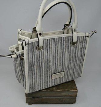 Catamaran Striped Satchel Bag (4 Colors)