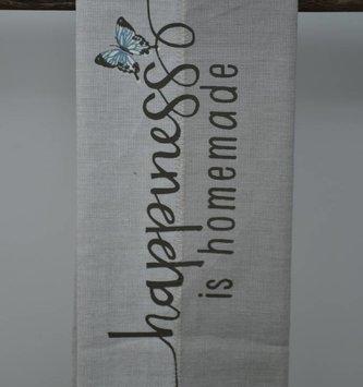 Happiness Is Homemade Tea Towel