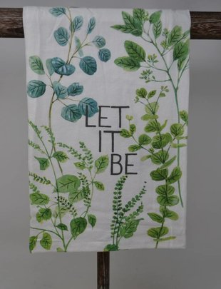 Let It Be Greenery Towel