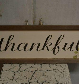 Farmhouse Framed Thankful Sign