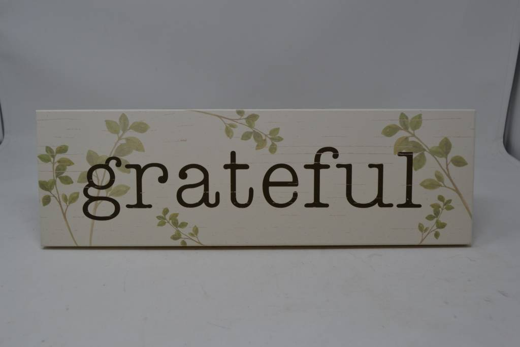 Grateful Greenery Sign