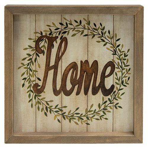 Home Square Framed Sign