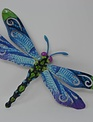 Large Colorful Metal Dragonfly
