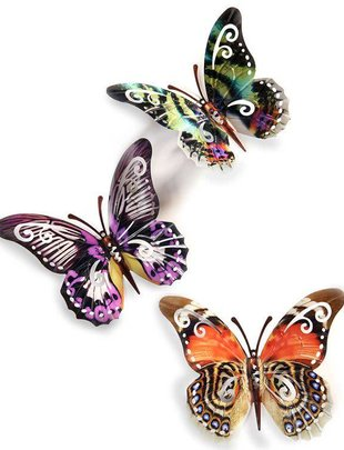 Large Colorful Metal Butterfly (3 Styles)