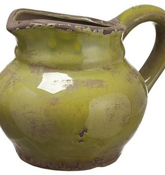 Small Distressed Green Pitcher