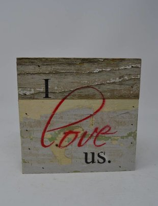 I Love Us Reclaimed Pallet Sign