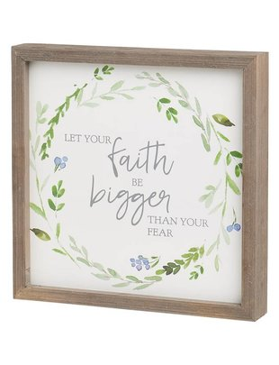 Let Your Faith Be Bigger Square Framed Sign