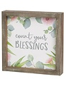 Count your Blessings Square Framed Sign