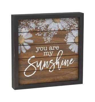 You are My Sunshine Framed Daisy Sign