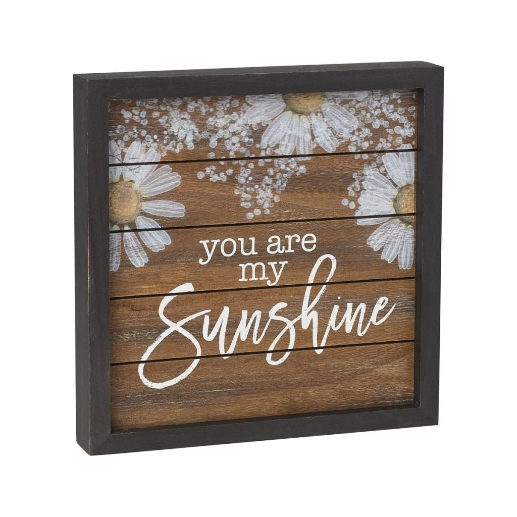 You Are My Sunshine Framed Daisy Sign
