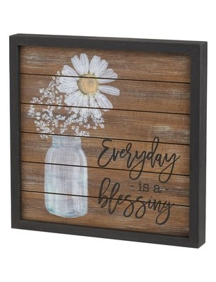 Everyday is a Blessing Framed Daisy Sign