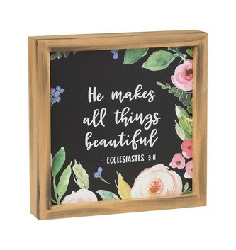 Ecclesiastes 3:11 Framed Floral Sign