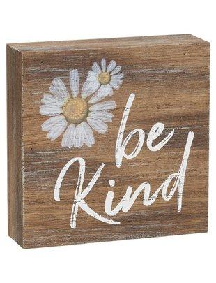 Be Kind Mini Square Block Sign