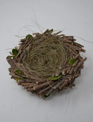 Twig Nest w/ Leaves