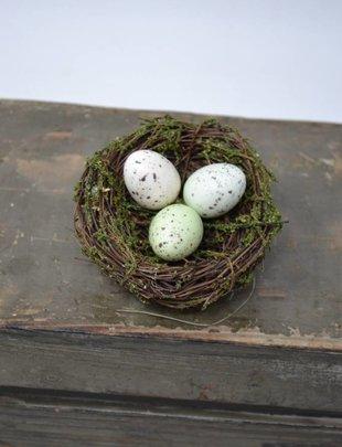 Triple Egg Bird Nest