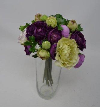 Purple & Green Ranunculus Bouquet