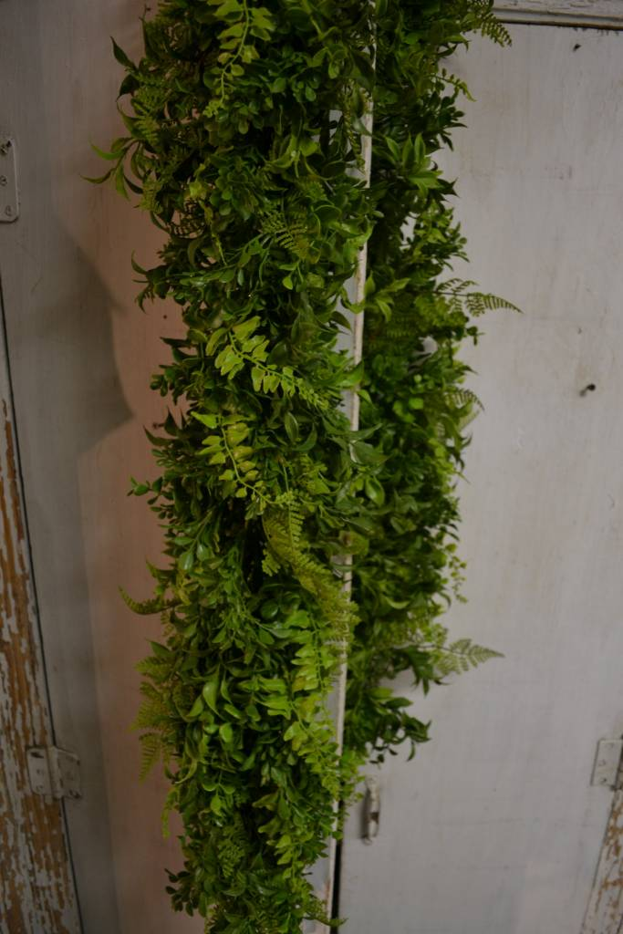 6 Ft Soft Touch Fern & Boxwood Garland