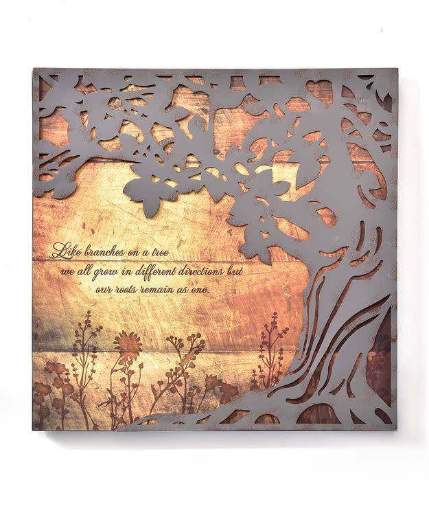 Like Branches Antiqued Wall Plaque