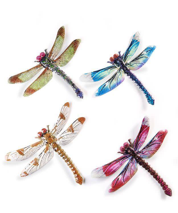 Large Naturalistic Metal Dragonfly (4 Styles)