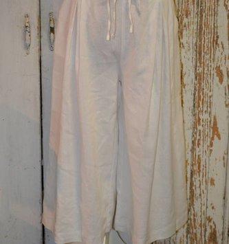 Wide Leg Linen Tie Pants