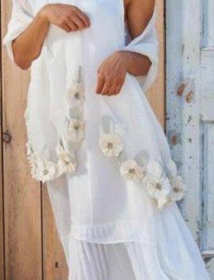 Layered Asymmetrical White Dress