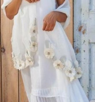Layered Asymmetrical White Dress