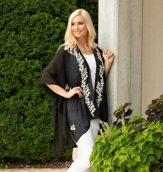 Floral Embroidered Wrap (2 Colors)