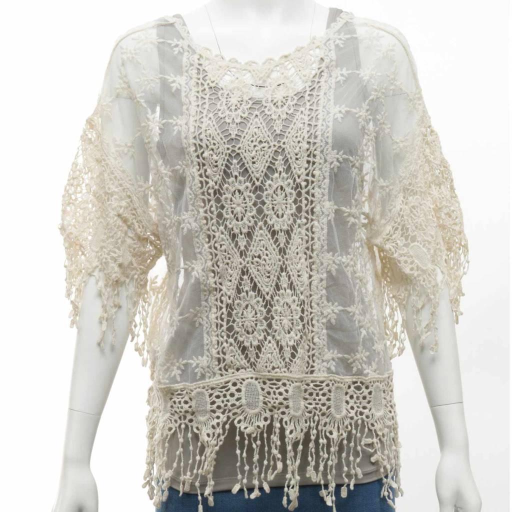 Coachella Sheer Crochet Top (2 Colors)
