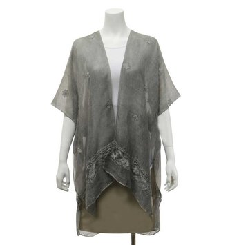 Sheer Embroidered Daisy Wrap (2 Colors)