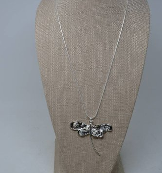 Hammered Dragonfly Necklace