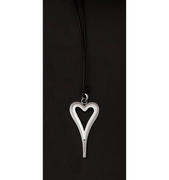 Black & Silver Heart Necklace