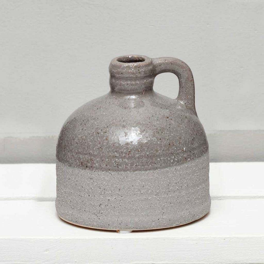 "4"" Textured Two-Tone Gray Jug"