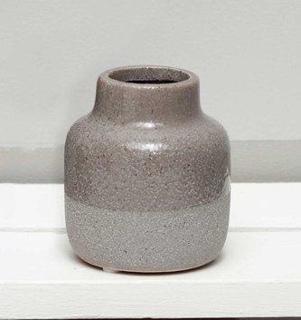 "3.5"" Textured Two-Tone Gray Vase"