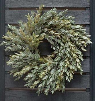 """14"""" Dusty Myrtle Wreath"""