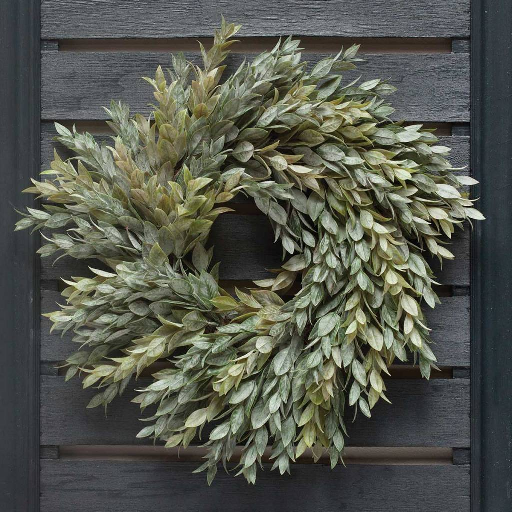 "14"" Dusty Myrtle Wreath"