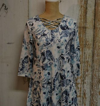 Watercolor Floral Paisley Tunic