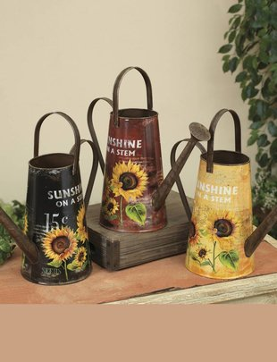 """10"""" Sunflower Watering Can (3 Colors)"""