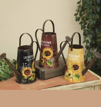 "10"" Sunflower Watering Can (3 Colors)"